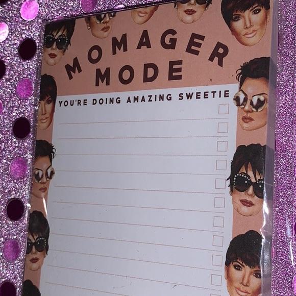 """Kris Jenner • """"MOMAGER MODE"""" Notepad • BRAND NEW!"""